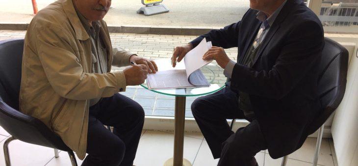 Rüştü Dölek Sözleşme İmzaladı
